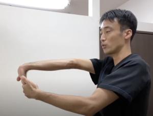 頚椎症を治すストレッチ手首