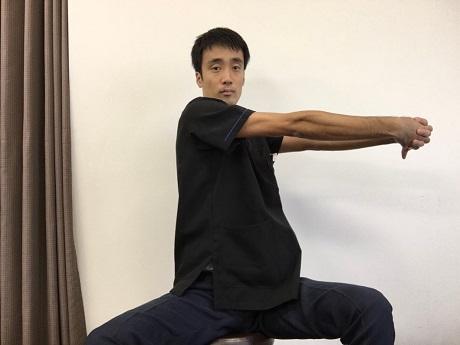 肋間神経痛おすすめストレッチその1−2