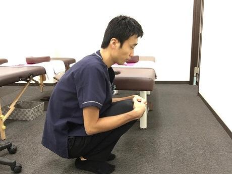 足の裏の筋肉とアキレス腱が硬くなってしまっている2